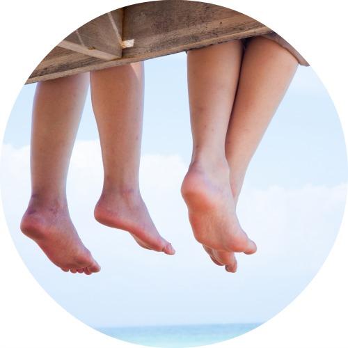voetjes rond